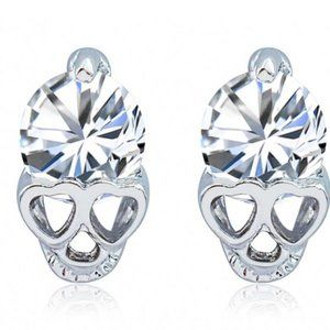 Hypoallergenic Skull Earrings (Silver)